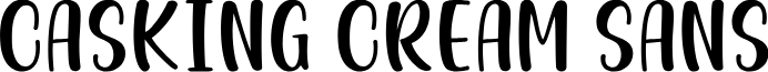 Casking Cream Sans