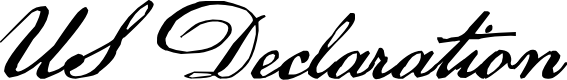 Preview image for US Declaration Font