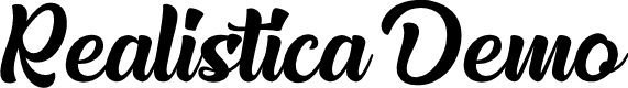 Preview image for Realistica Demo Font
