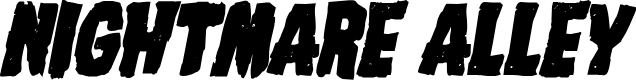 Preview image for Nightmare Alley Bold Italic