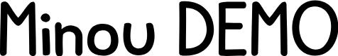 Preview image for Minou DEMO Regular Font