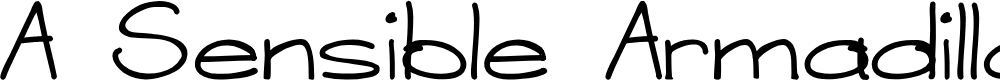Preview image for A Sensible Armadillo Font