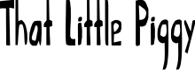 Preview image for That Little Piggy Font