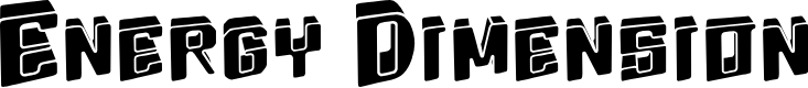 Preview image for Energydimension Font
