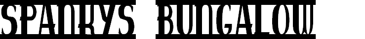 Preview image for spankys bungalow Font