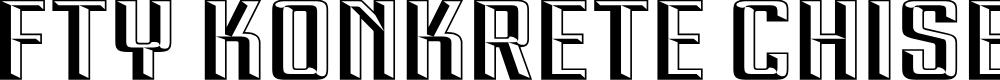 Preview image for FTY KONKRETE CHISELED NCV Font