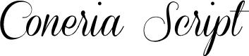 Preview image for Coneria Script Demo Font