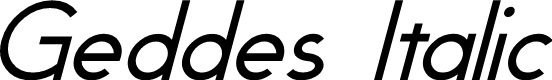 Preview image for Geddes Italic