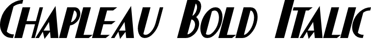 Preview image for Chapleau Bold Italic