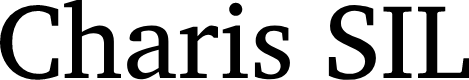 Preview image for Charis SIL Font