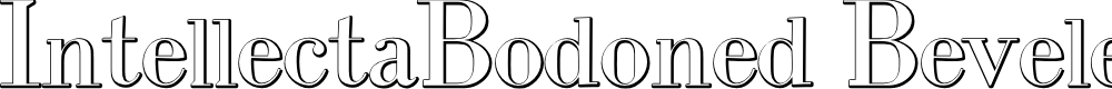 Preview image for IntellectaBodoned Beveled Font