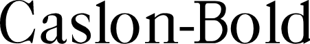 Caslon-Bold