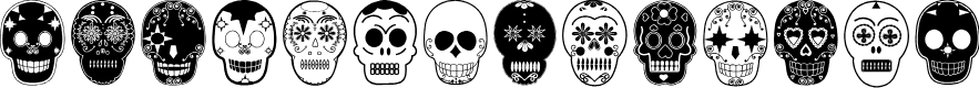 Preview image for Dia de los Muertos Limited Free Version Font