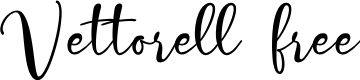 Preview image for Vettorell free Font
