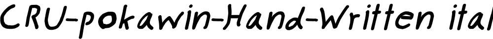 Preview image for CRU-pokawin-Hand-Written italic