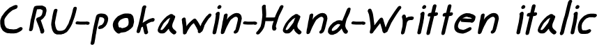 CRU-pokawin-Hand-Written italic