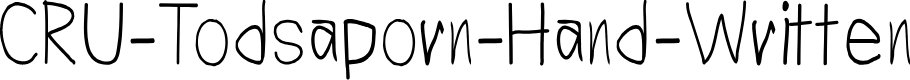 Preview image for CRU-Todsaporn-Hand-Written Font
