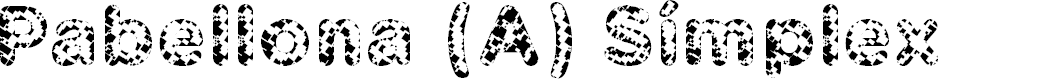 Preview image for Pabellona (A) Símplex Font