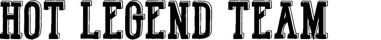 Preview image for Hot Legend Team DEMO Font