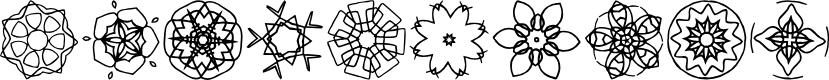 Preview image for JI Kaleidoscope Bats 4 Font