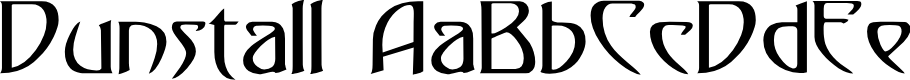 Preview image for Dunstall Font