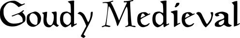 Preview image for GoudyMedieval Font