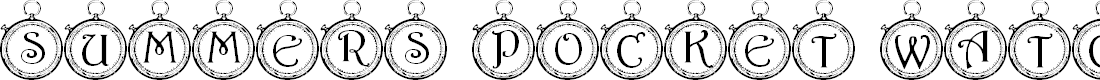 Preview image for Summer's Pocket Watch Font