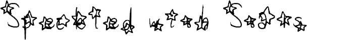 Preview image for Speckled with Stars Font