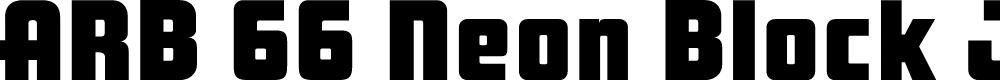 Preview image for ARB 66 Neon Block JUN-37 Font