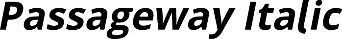 Preview image for Passageway Italic