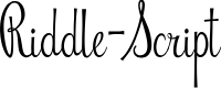 Preview image for Riddle-Script Font