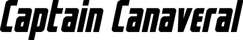 Preview image for Captain Canaveral Italic Font