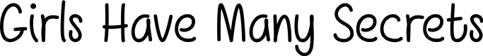 Preview image for Girls Have Many Secrets Font