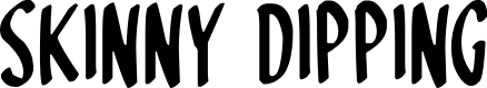 Preview image for Skinny Dipping Font