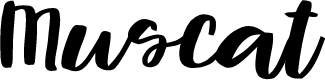 Preview image for Muscat Font