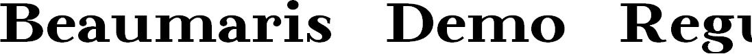 Preview image for Beaumaris Demo Regular Font