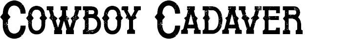 Preview image for Cowboy Cadaver Font