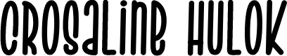 Preview image for Crosaline Hulok Font