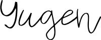 Preview image for Yugen Font