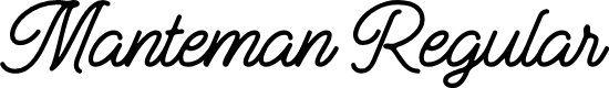 Preview image for Manteman Regular Font