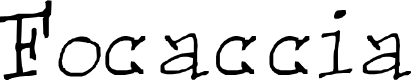 Preview image for Focaccia Font
