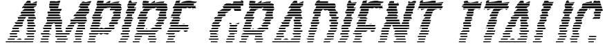 Ampire Gradient Italic