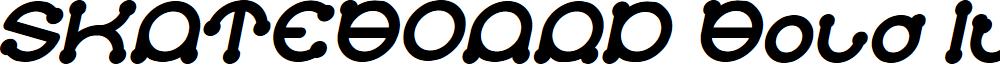 SKATEBOARD Bold Italic
