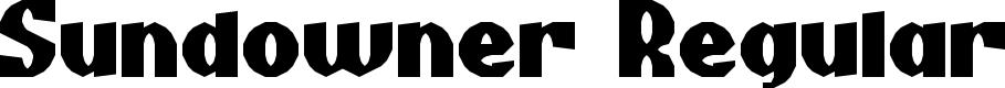 Preview image for Sundowner Regular Font