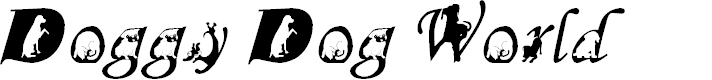 Preview image for Doggy Dog World Font
