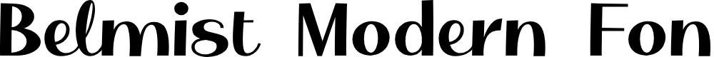 Preview image for Belmist Regular Font