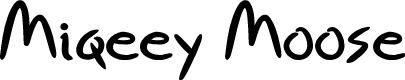 Preview image for Miqeey Moose Font