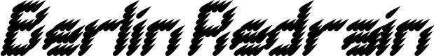 Preview image for BERLIN REDRAIN Italic