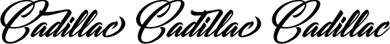 CADILLAC PERSONAL USE Italic font