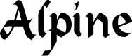 Preview image for Alpine Regular Font